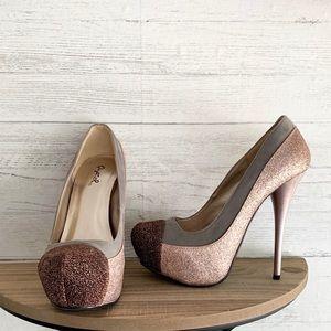 Qupid Colorblock heels